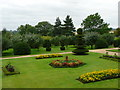 SP5750 : Canons Ashby - the garden looking away from the house by Marion Haworth