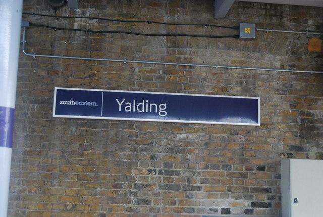 Station Sign, Yalding Station