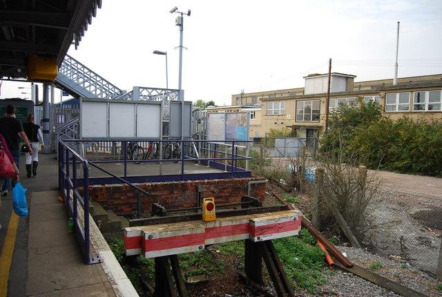 The end of platform 4, Paddock Wood Station