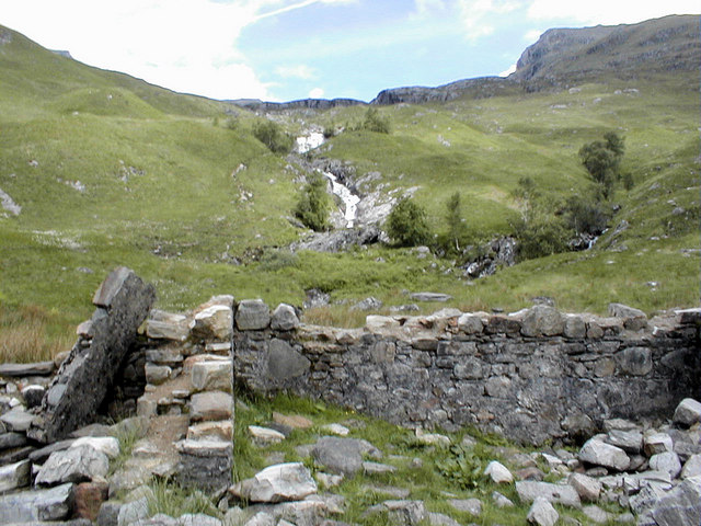 The ruins of Steall