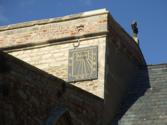 Sundial on St. James church