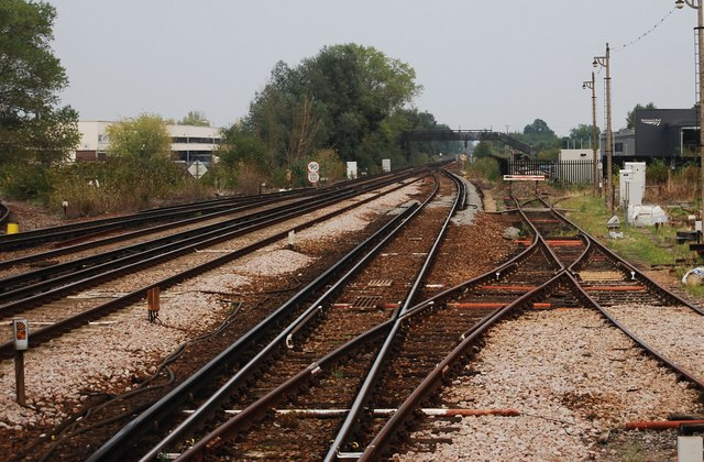 Looking down the line at Paddock Wood
