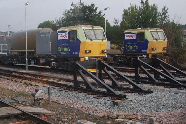 Trains in the sidings at Tonbridge