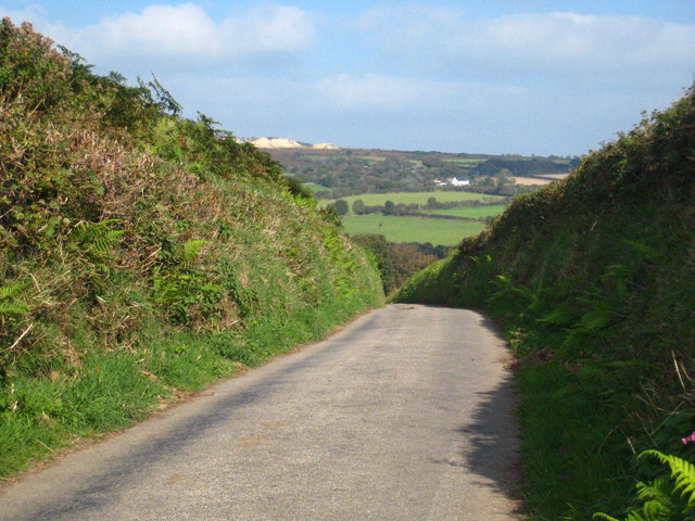The lane down to Trenouth