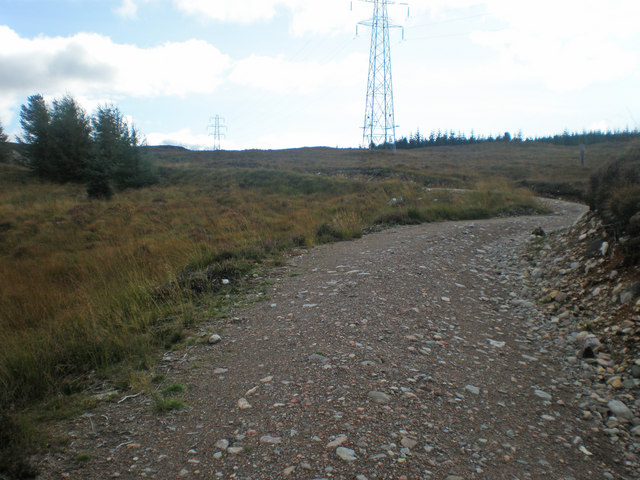 Old drovers road crossing moorland to meet old military road