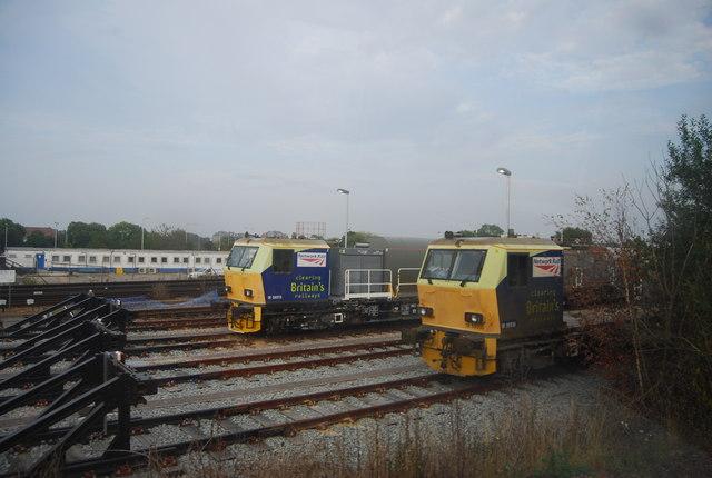 Network Rail trains in the sidings, Tonbridge
