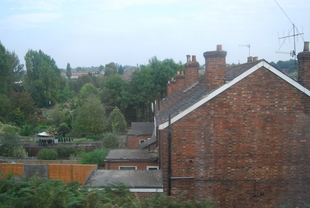 Terraced houses by the railway, High Brooms