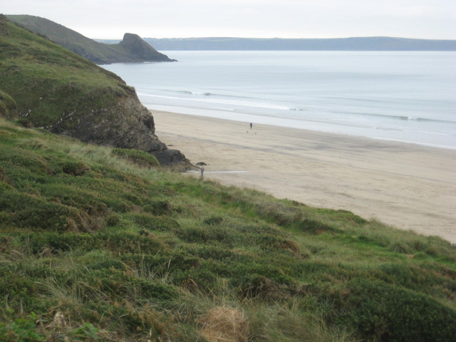 Newgale Sands looking South from the Clifftop Road