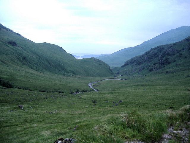 Gleann Meadail looking towards Tòrr an Tuirc