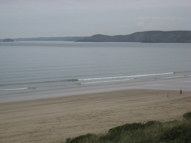 Newgale Sands looking Northwest from the Clifftop Road