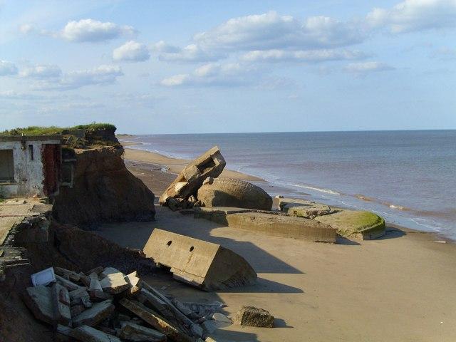 Godwin Battery remains, Kilnsea