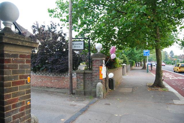 Entrance to the Masonic Hall, St John's Rd
