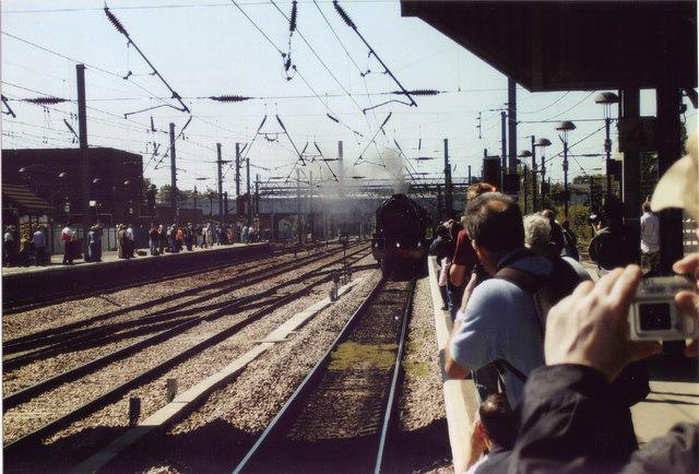 6201 Princess Elizabeth arriving at Doncaster