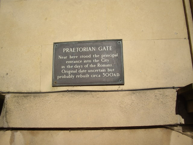Site of York's Praetorian Gate
