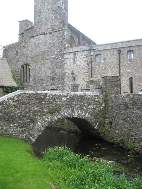 Bridge over the river Alun adjacent to St David's cathedral