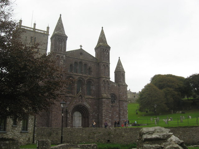 Front elevation of St David's cathedral