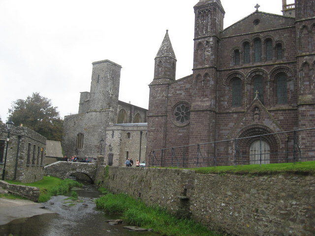 River Alun adjacent to St David's cathedral