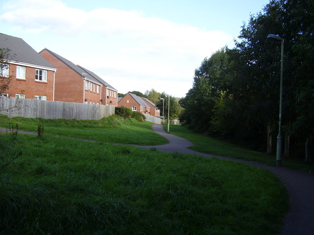 Behind the houses