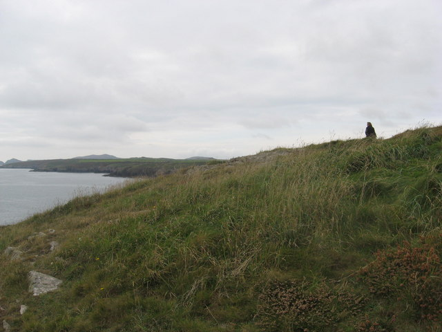 Pembrokeshire coastal path at Caerfai bay