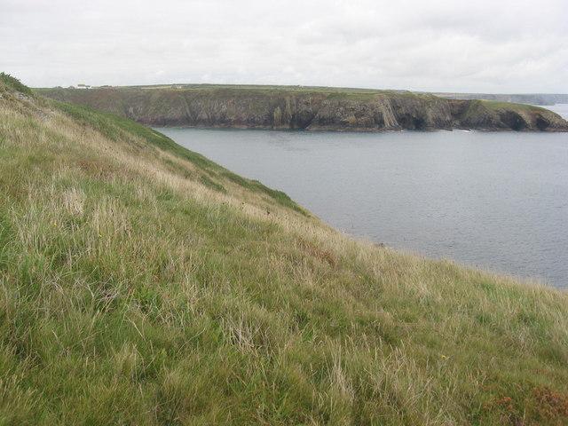 Caerfai bay from Pen y Cyfrwy