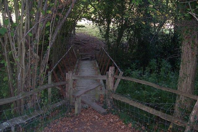 Footbridge in Rectory Park
