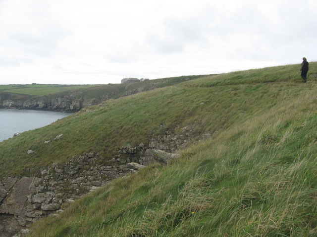 Pembrokeshire coastal path at St Non's bay
