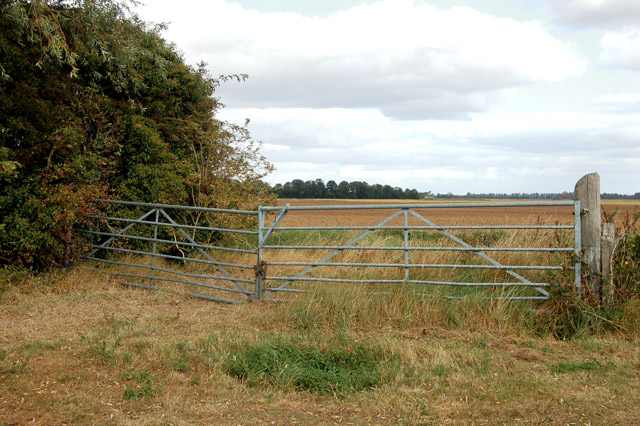Double gate on Poplar Farm