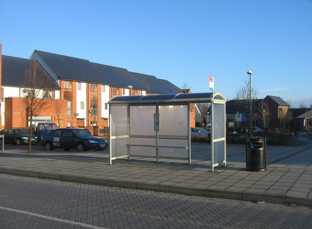 Modern style bus shelter