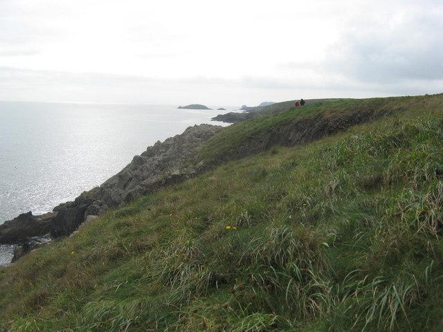 Pembrokeshire coastal path at Trwyn Cynddeiriog