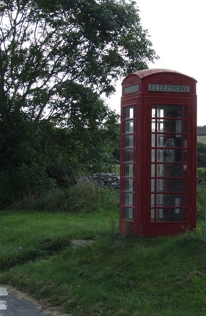 Old Telephone Box  at Elkstone