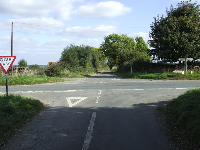 High Cross Crossroads  looking towards Colesbourne