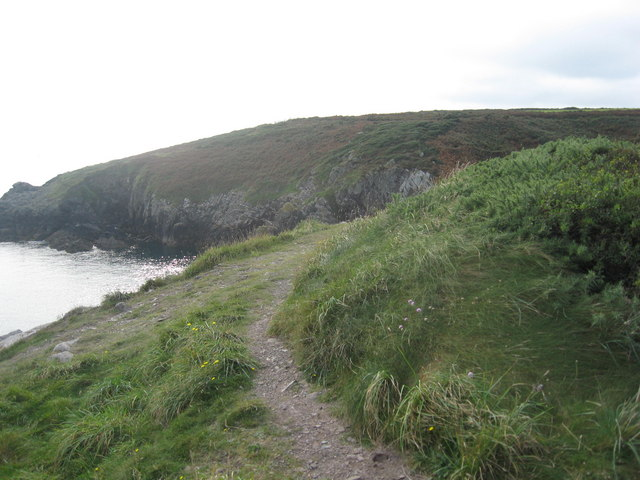 Pembrokeshire coastal path above the entrance to Porth Clais