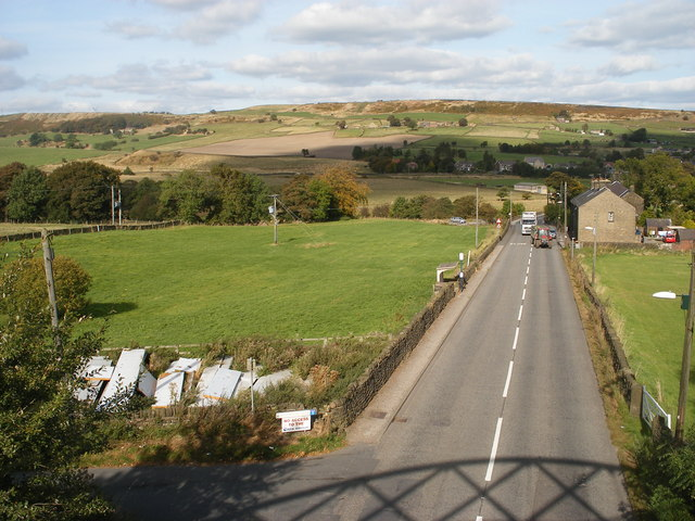 Manchester Road A628 from the Trans Pennine Trail