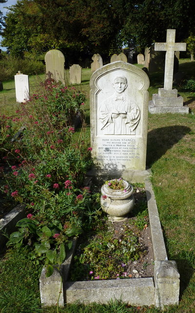 A grave in the churchyard of St. Martin of Tours, Detling