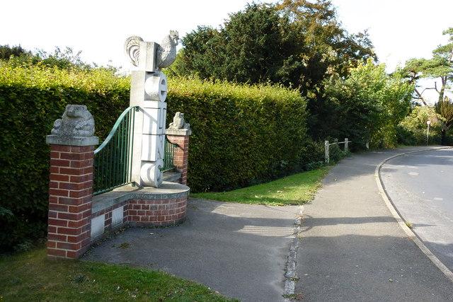 A millennium sculpture in Detling