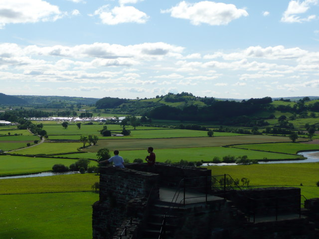 Dinefwr Castle looking across to Llandeilo Welsh Game Fair