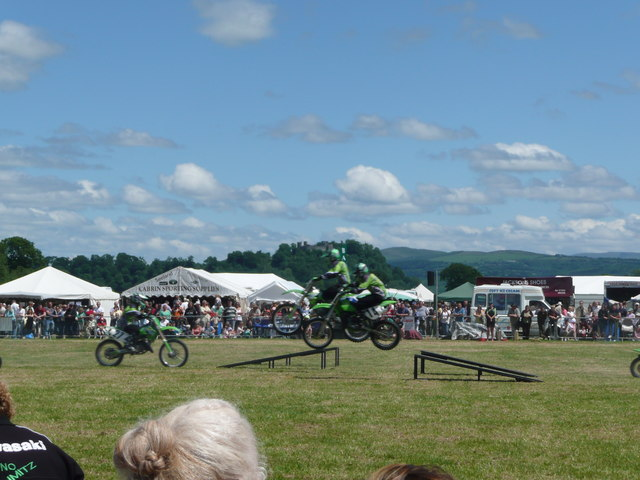 Stunt motorcyclists at Llandeilo Welsh Game Fair