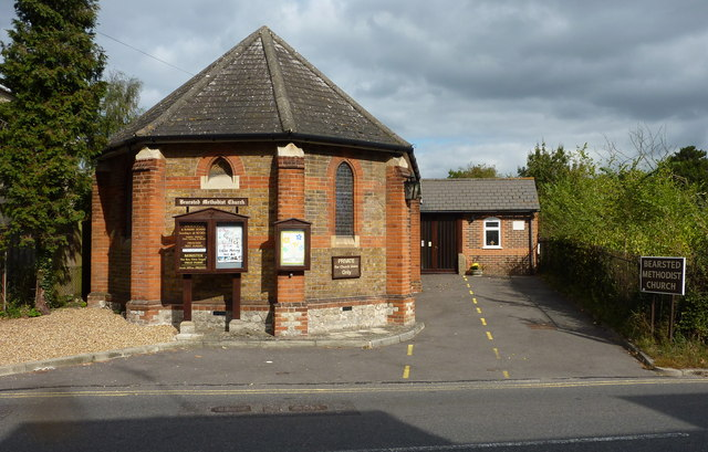 Bearsted Methodist Church on the north side of  Ware Street