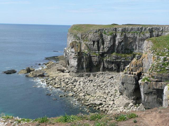 St Govan's Head looking westward
