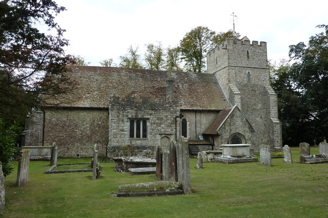 The north side of the church of  St. Mary the Virgin, Thurnham
