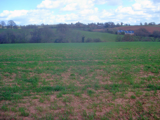 Arable land near Lower Brockington Farm