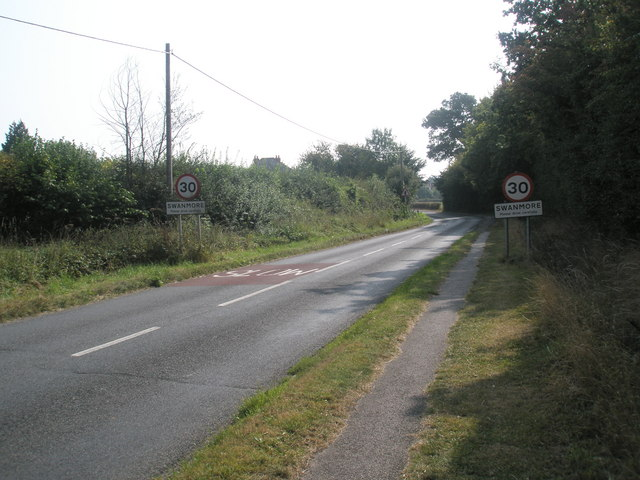 Swanmore village boundary