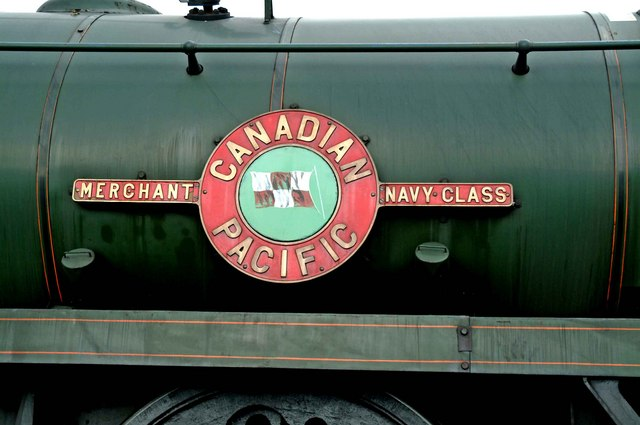 "Merchant Navy Class 35005 ""Canadian Pacific"" - close-up of name plate"