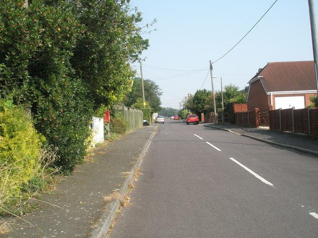 Looking north-east up Moorlands Road