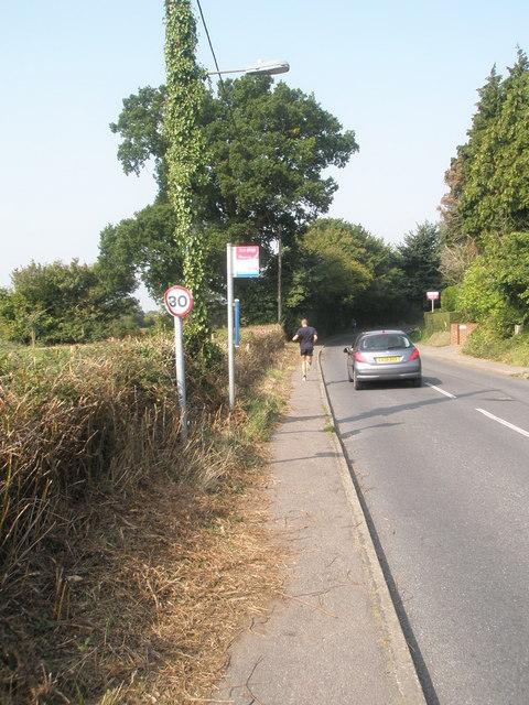 Bus stop in Swanmore Road (1)