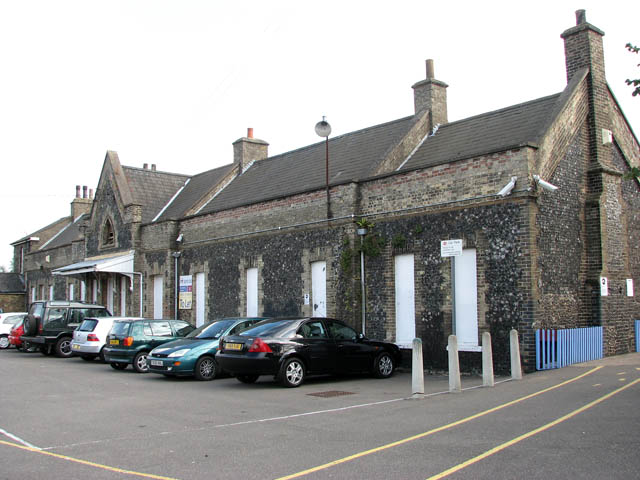 Brandon railway station - viewed from the car park