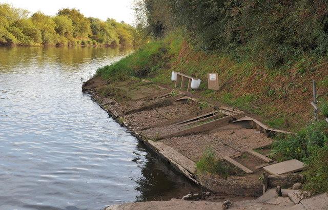 Sunken Boat in the River Severn