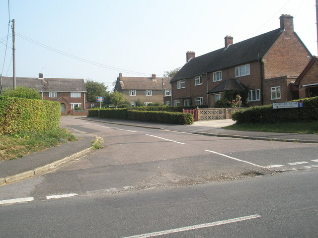 Junction of Swanmore Road with Donigers Close
