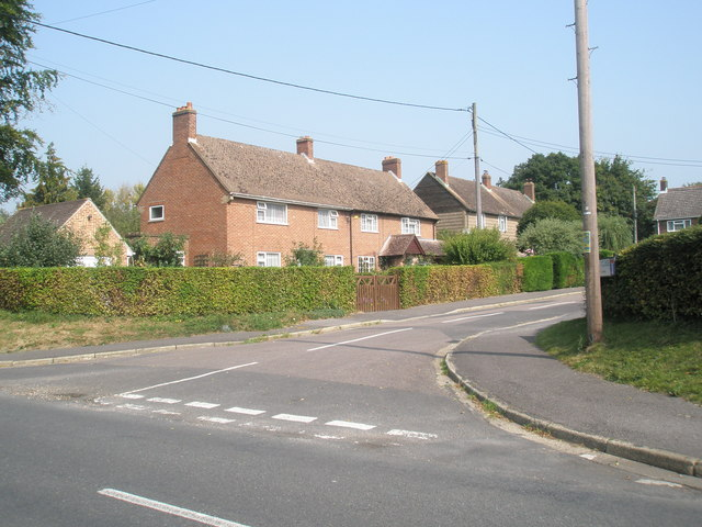 Junction of  Donigers Close with Swanmore Road