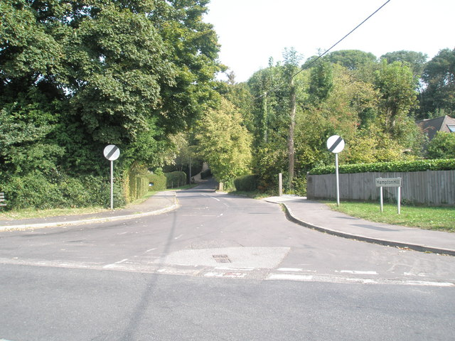Looking from Swanmore Road into Hampton Hill